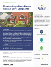 Absolute Helps Bovis Homes Maintain GDPR Compliance